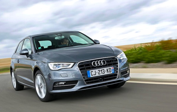 Audi A3 Europe August 2013. Picture courtesy of L'Argus