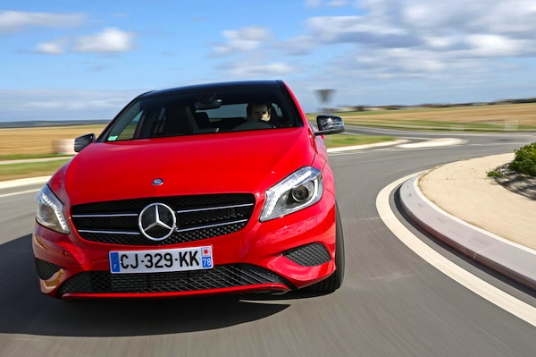Mercedes A Class Luxembourg 2013. Picture courtesy of L'Argus