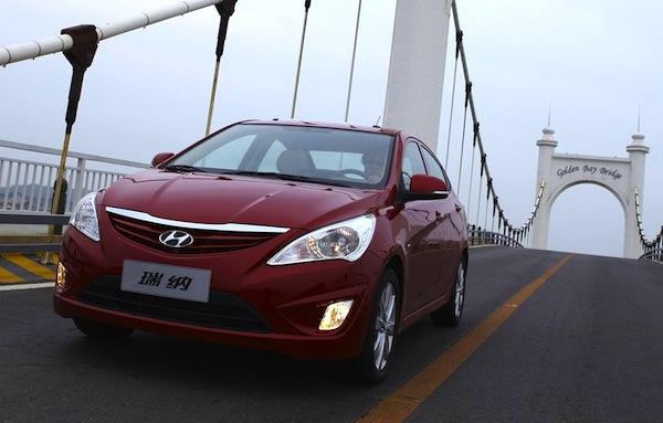 Hyundai Verna China January 2013. Picture courtesy of auto.sina.com.cn