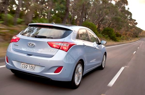 Hyundai i30 Australia August 2014