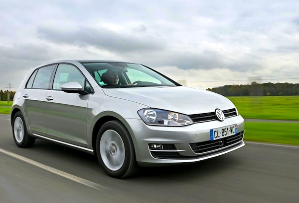 VW Golf Sweden August 2013. Picture courtesy of L'Argus2