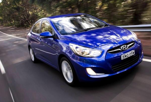 Hyundai Accent Ukraine March 2013. Picture courtesy of themotorreport.com.au