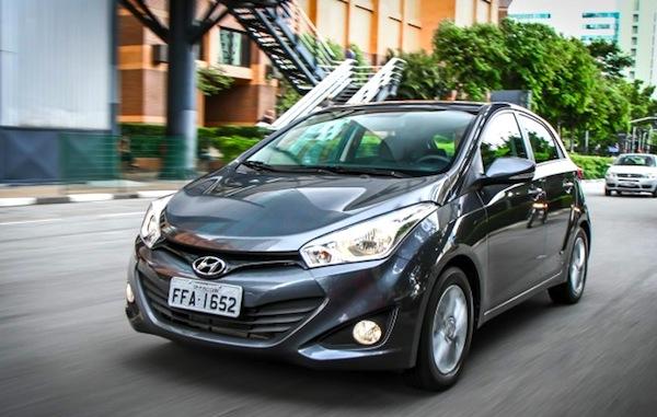 Hyundai HB20 Brazil March 2013. Picture courtesy of CarPlace