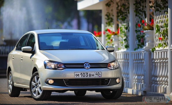 VW Polo Russia May 2013. Picture by road2.ru