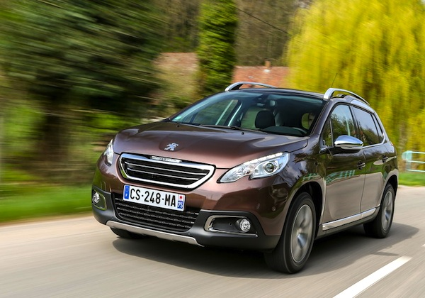 Peugeot 2008 Switzerland September 2015. Picture courtesy of Largus