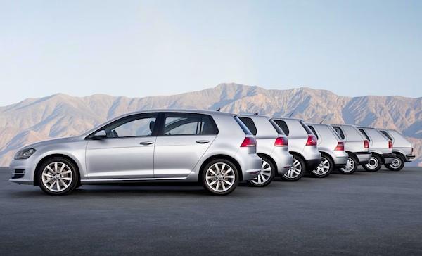 VW Golf 7 generations World June 2013