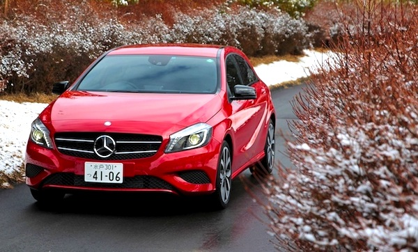 Mercedes A Class Japan June 2013. Picture courtesy of openers.jp