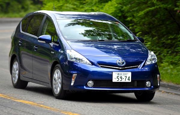 Toyota Prius Alpha Japan June 2013