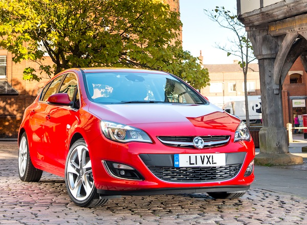 Vauxhall Astra UK June 2013