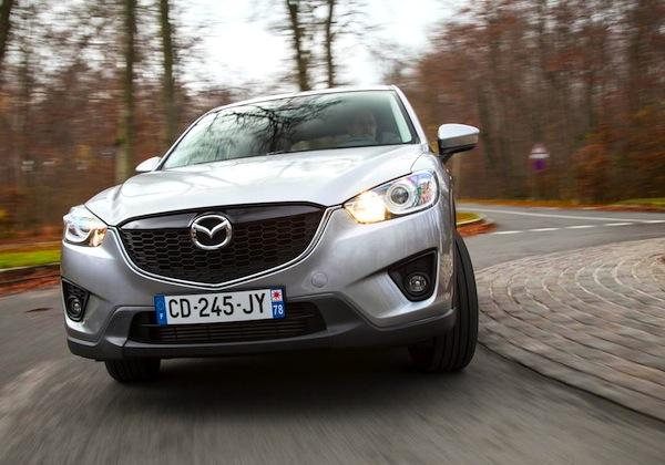 Mazda CX-5 Switzerland August 2013. Picture courtesy of largus.fr