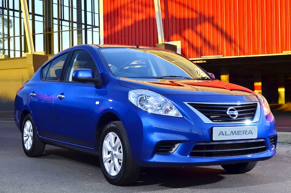 Nissan Almera South Africa August 2013. Picture courtesy of tractiononline.tv