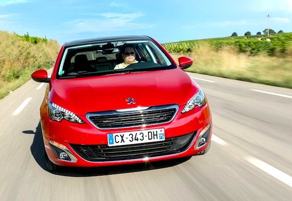 Peugeot 308 II France February 2014. Picture courtesy of largus. fr