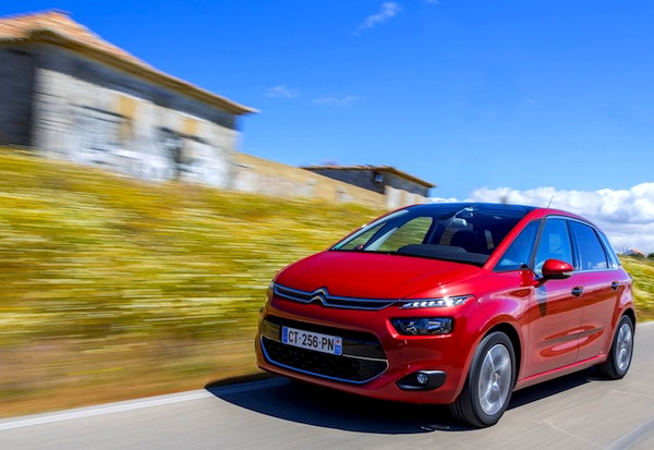Citroen C4 Picasso II France October 2013. Picture courtesy of largus.fr