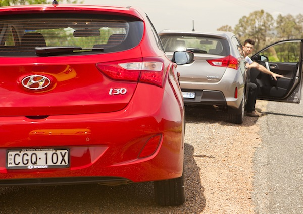 Hyundai i30 Toyota Corolla World July 2013. Picture courtesy of caradvice.com.au