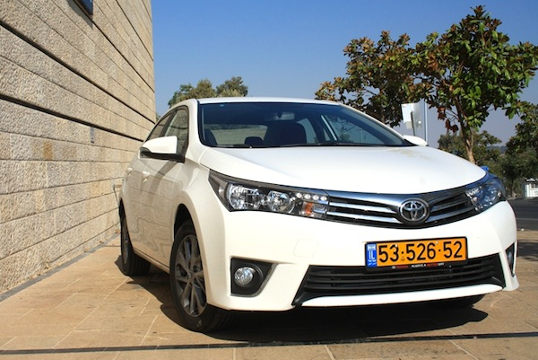 Toyota Corolla Israel October 2013. Picture courtesy of icar.co.il