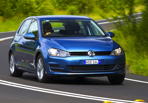 VW Golf Australia September 2013. Picture courtesy of forcegt.com