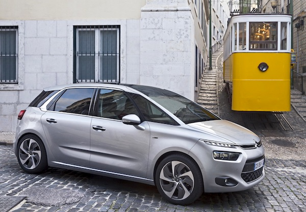 Citroen C4 Picasso France January 2014. Picture courtesy of largus.fr