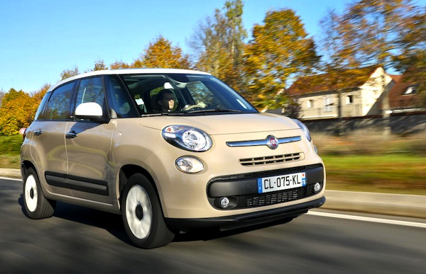 Fiat 500L Hungary November 2014. Picture courtesy of largus.fr