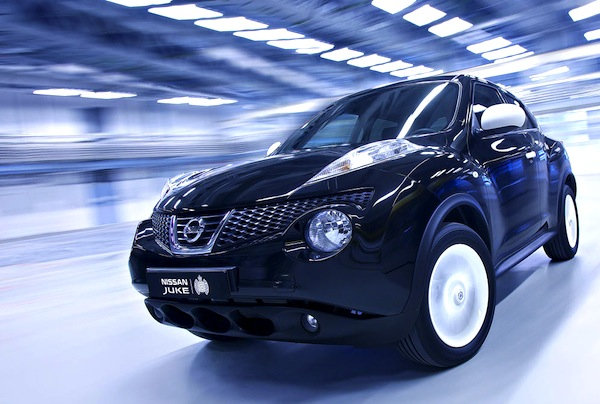 Nissan Juke UK October 2013. Picture courtesy of largus.fr