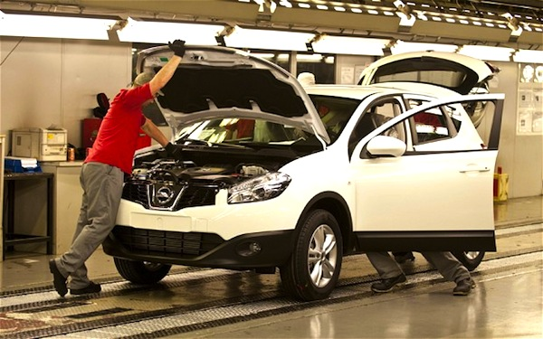 Nissan Qashqai Sunderland UK. Picture courtesy of telegraph.uk