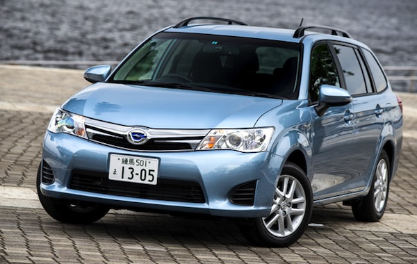 Toyota Corolla Fielder Japan October 2013. Picture courtesy of response.jp