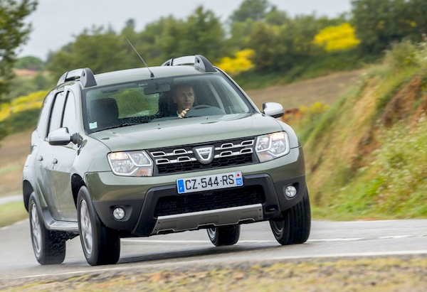 Dacia Duster Ireland September 2015. Picture courtesy of largus.fr