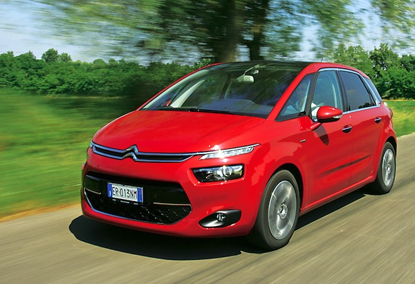 Citroen C4 Picasso Italy January 2013. Picture courtesy of quattroruote.it