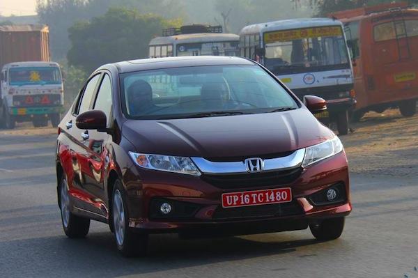Honda City India January 2014. Picture courtesy of motorbeam.com