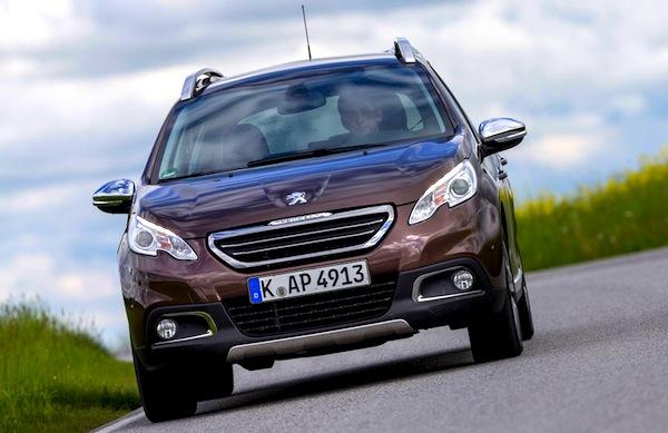 Peugeot 2008 Spain December 2014. Picture courtesy of autobild.de