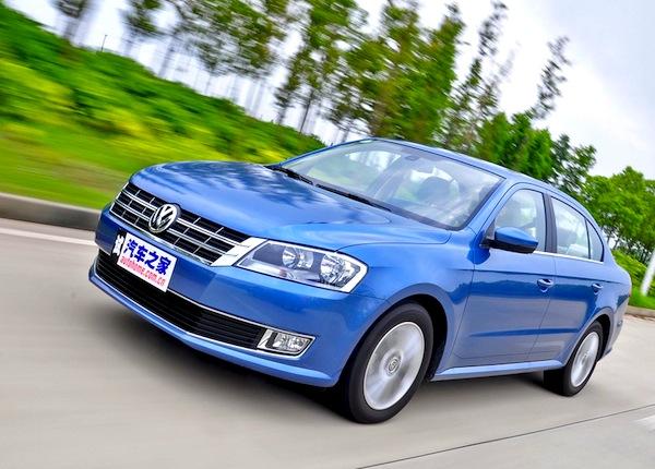 VW Lavida China January 2014. Picture courtesy of autohome.com.cn
