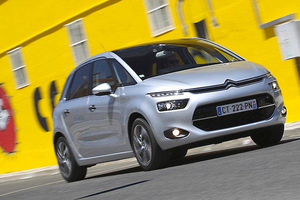 Citroen C4 Picasso France February 2014. Picture courtesy of automobile-magazine.fr