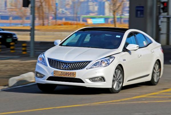 Hyundai Grandeur South Korea February 2014. Picture courtesy of auto.hankyung.com