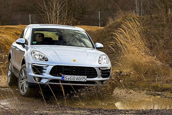 Porsche Macan Germany February 2014. Picture courtesy of autobild.de