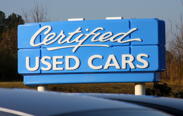 Used cars sign. Picture courtesy of caradvice.com.au