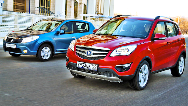 ChangAn CS35 Russia March 2014. Picture courtesy of zr.ru