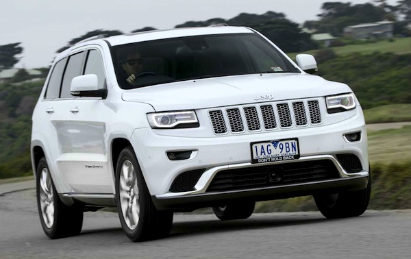 Jeep Grand Cherokee Australia March 2014. Picture courtesy of themotorreport.com.au