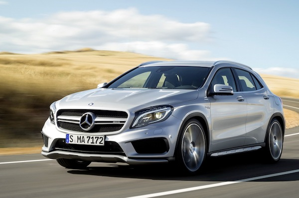 Mercedes-Benz GLA Europe April 2014. Picture courtesy of largus.fr