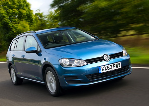 VW Golf UK September 2015