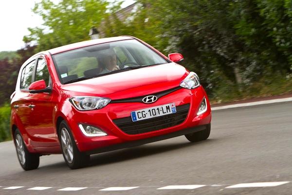 Hyundai i20 Austria July 2014. Picture courtesy of largus.fr