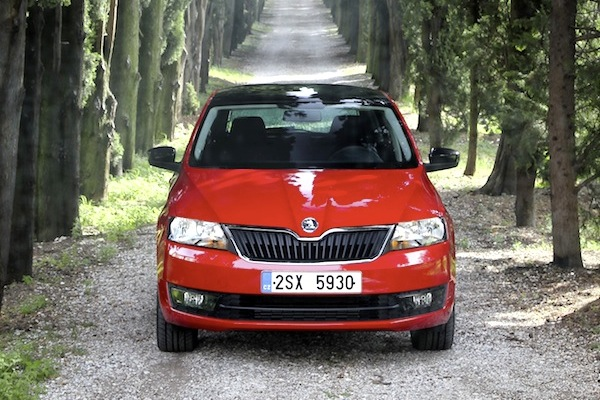 Skoda Rapid Spaceback Hungary April 2014. Picture courtesy of largus.fr