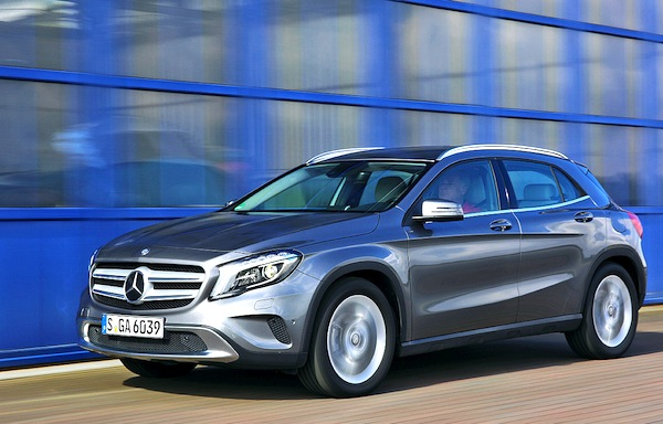 Mercedes GLA Germany August 2014. Picture courtesy of autobild.de