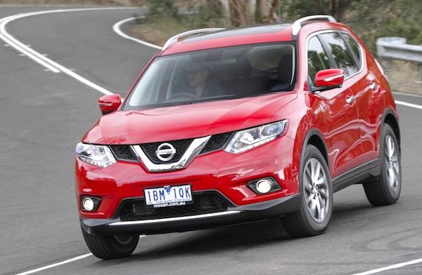 Nissan X-Trail Australia May 2014. Picture courtesy of themotorreport.com.au