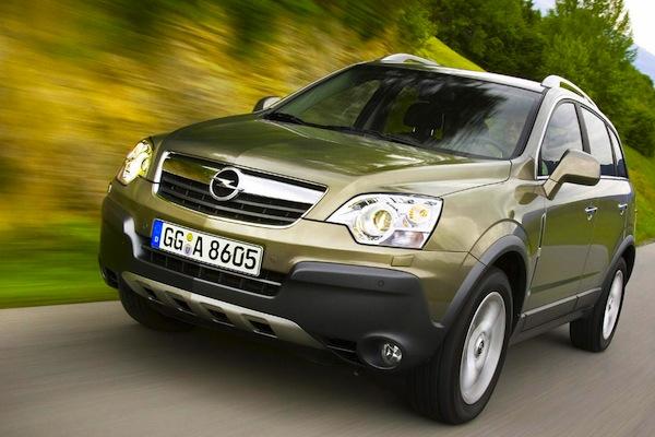 Opel Antara Hungary May 2014. Picture courtesy of largus.fr