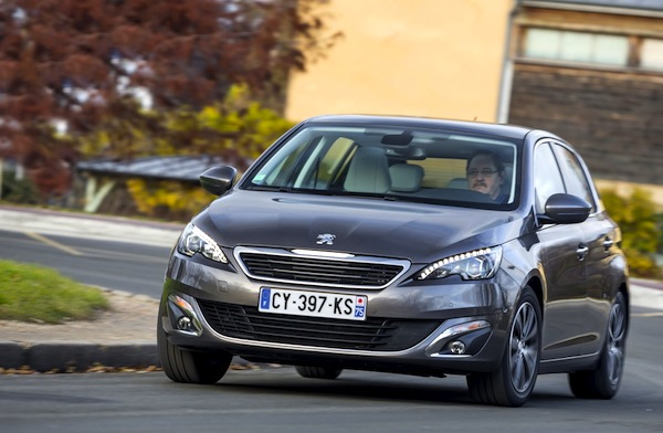 Peugeot 308 France March 2015. Picture courtesy of largus.fr