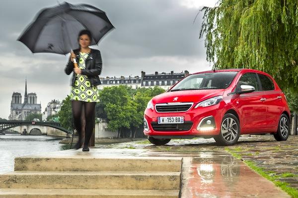 Peugeot 108 France June 2014. Picture courtesy of largus.fr