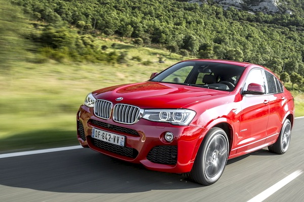 BMW X4 Spain October 2014. Picture courtesy of largus.fr