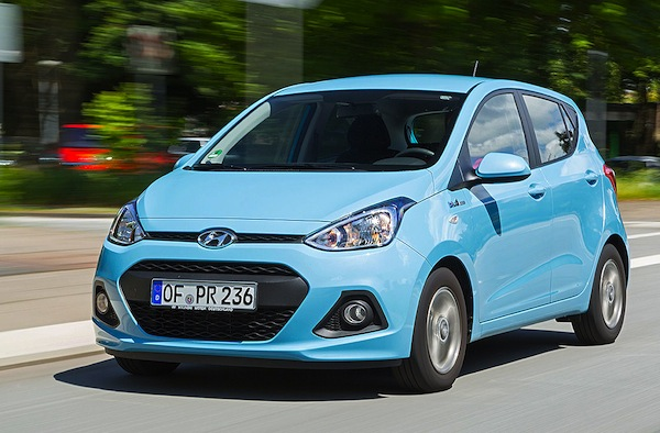 Hyundai i10 Germany August 2014. Picture courtesy of autobild.de