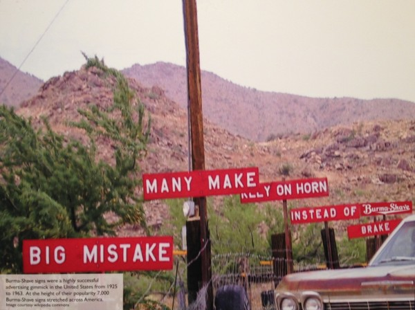 Burma-Shave advertising Route 66
