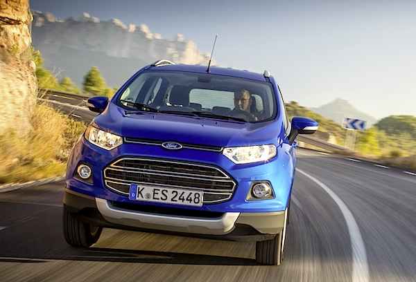 Ford Ecosport Italy November 2015. Picture courtesy of largus.fr