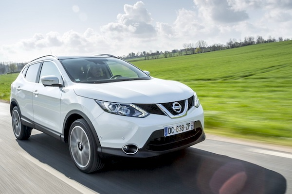 Nissan Qashqai UK October 2014. Picture courtesy of largus.fr